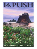 La Push, Washington Coast Prints by  Lantern Press