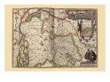 Duchy of Brabant Kunstdrucke von Pieter Van der Keere
