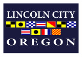 Lincoln City, Oregon - Nautical Flags Prints by  Lantern Press