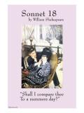 Sonnet 18; Last Evening Print