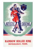 Artistic Skating Premium Giclee Print