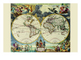 Stereographic Map of the World Photo by Moses Pitt