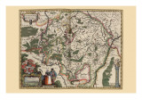 Map of Luxembourg Prints by Pieter Van der Keere