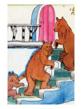 Three Bears Go Upstairs Prints by Julia Letheld Hahn