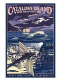 Catalina Island, California - Flying Fish Prints by  Lantern Press