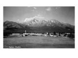 Palmer, Alaska - Panoramic View of Town Poster