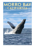 Morro Bay, CA - Humpback Whale Posters by  Lantern Press