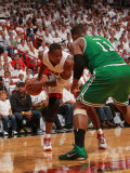 Boston Celtics v Miami Heat - Game Five, Miami, FL - MAY 11: Chris Bosh and Glen Davis Photographic Print by Victor Baldizon