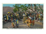 Grand Canyon Nat'l Park, Arizona - Dance of the Hopi in front of Hopi House Poster