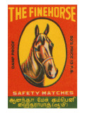 Fine Horse Safety Matches Posters