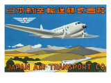 Japan Air Transport Label Prints