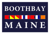 Boothbay, Maine - Nautical Flags Prints by  Lantern Press