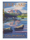 June Lake, California Scene with Sierra Wave Prints by  Lantern Press
