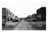 Chamberlain, South Dakota - Northern View up Main Street Poster