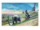 Rapid City, South Dakota - Dinosaur Park in the Black Hills Prints