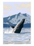 Prince Rupert, BC Canada - Humpback Whale Poster by  Lantern Press