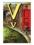 V For the Van That Follows the Train Prints by Edmund Evans
