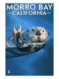 Morro Bay, CA - Sea Otter Prints by  Lantern Press