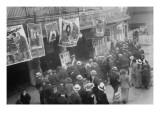 Ballyhoo Men Flock To Coney Island Prints