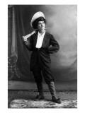 Cowgirl Portrait - Woman Holding Rifle Prints by  Lantern Press