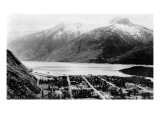 Skagway, Alaska - Aerial Panoramic View of Town Prints