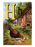 H For the Hen, of Her Chicks So Fond Prints by Edmund Evans