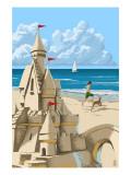 Sand Castle Prints by  Lantern Press