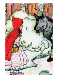 Little Red Riding Hood Meets the Wolf Prints by Julia Letheld Hahn