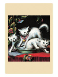 Frightened Kittens Prints