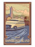 Bainbridge Island, WA - Kalakala Ferry Poster