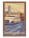 Bainbridge Island, WA - Kalakala Ferry Poster by  Lantern Press