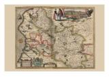 Map of the Area Around Arras, France 1622 Prints by Pieter Van der Keere