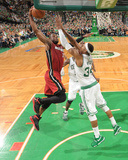 Miami Heat v Boston Celtics - Game Three, Boston, MA - MAY 7: Dwyane Wade and Paul Pierce Photographic Print by Brian Babineau