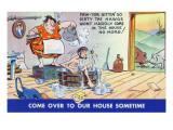Comic Cartoon - Hillbillies; Pa Gets so Dirty, the Hogs Won't Stay inside Prints by  Lantern Press