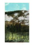 Yellowstone Nat'l Park, Wyoming - Roaring Mountain Scene Prints by  Lantern Press