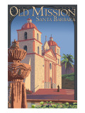 Old Mission - Santa Barbara, California Posters