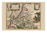 Belgium Print by Pieter Van der Keere