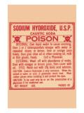 Sodium Hydroxide, U.S.P. Caustic Soda Prints