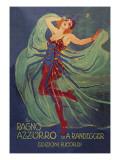 Ragno Azzurro (The Blue Spider) Poster af Leopoldo Metlicovitz