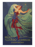 Ragno Azzurro (The Blue Spider) Print by Leopoldo Metlicovitz