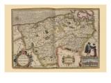 Flanders, Belgium Map Poster von Pieter Van der Keere