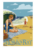 Morro Bay, California Beach Scene Prints by  Lantern Press