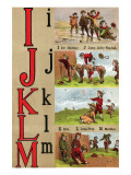 I, J , K, L, M Illustrated Letters Prints by Edmund Evans