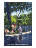Florida - Seminole Indians by a Dug-Out Canoe Posters