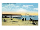 Sylvan Beach, New York - View of the Toboggan Slide Posters by  Lantern Press