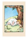 Asleep Under a Tree Print by Julia Dyar Hardy
