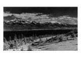 Montana - View of Flathead Lake Print by  Lantern Press