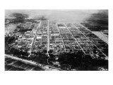 Anchorage, Alaska - Aerial View of the City Poster