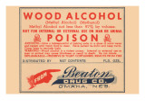 Wood Alcohol - Poison Posters