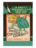 Our Famous Coo-Coo Cocktails Poster